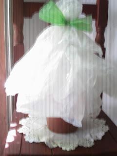 Arbolito de navidad reciclado - Versión nevado.