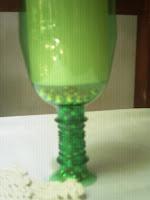 Copón candelabro reciclando botellas plásticas