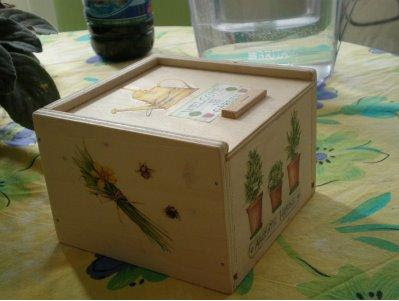 Decoupage sobre cajas