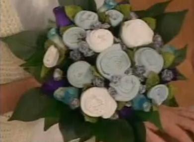 Idea para baby shower, ramo de flores