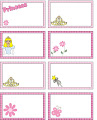 Etiquetas de princesas para imprimir