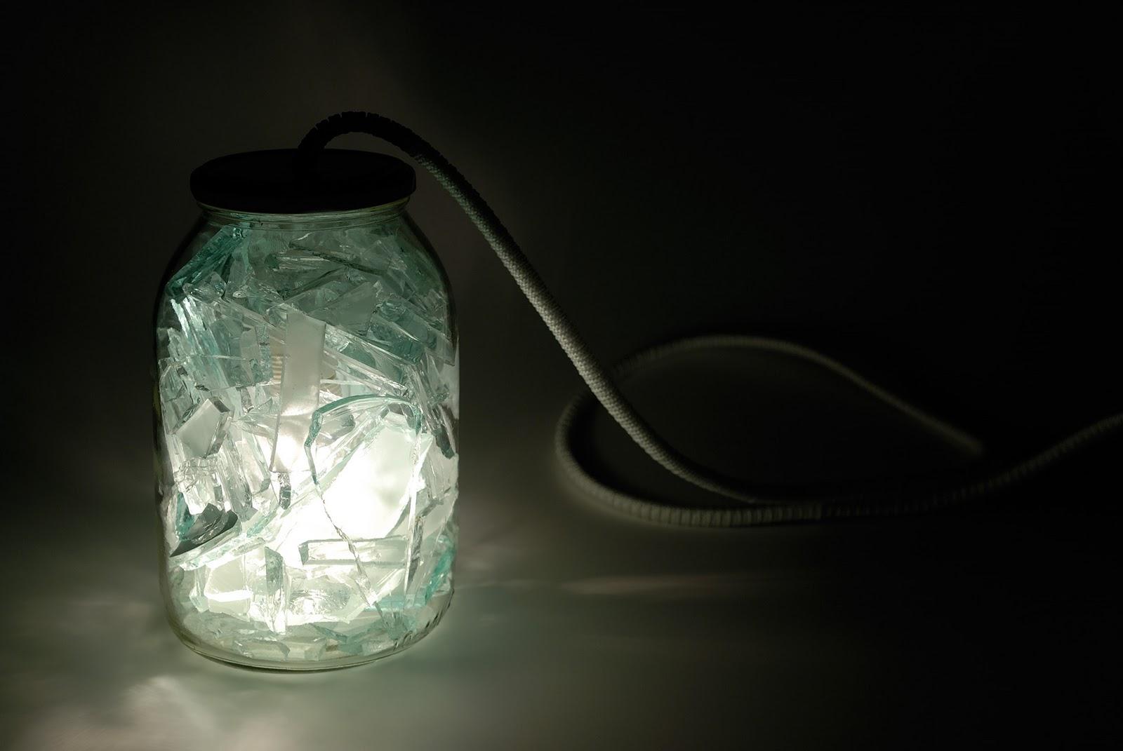 say hi to design grupa wzorowo broken glass lamp