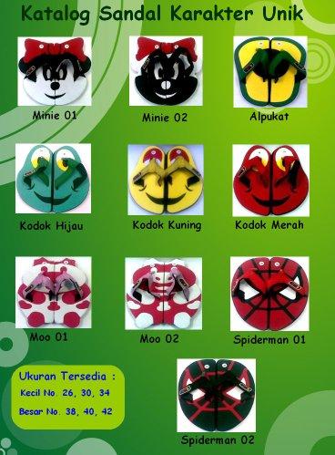Katalog Sandal Karakter FANKQ