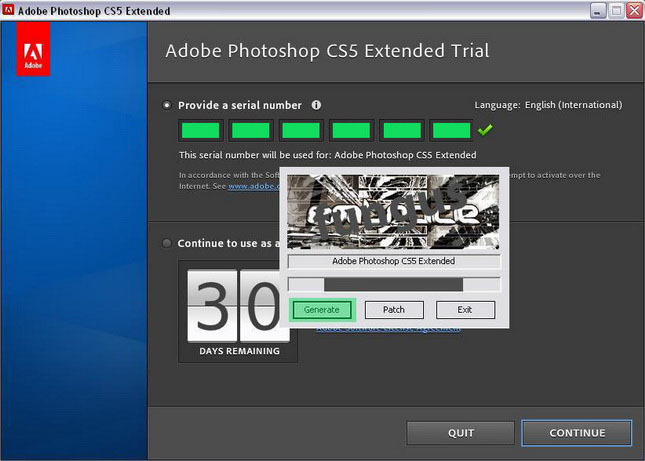 photoshop cs5  with crack for windows 7