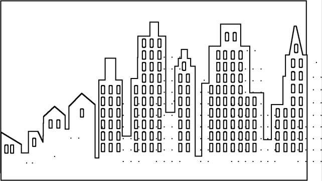 Comunidad urbana y rural para colorear - Imagui