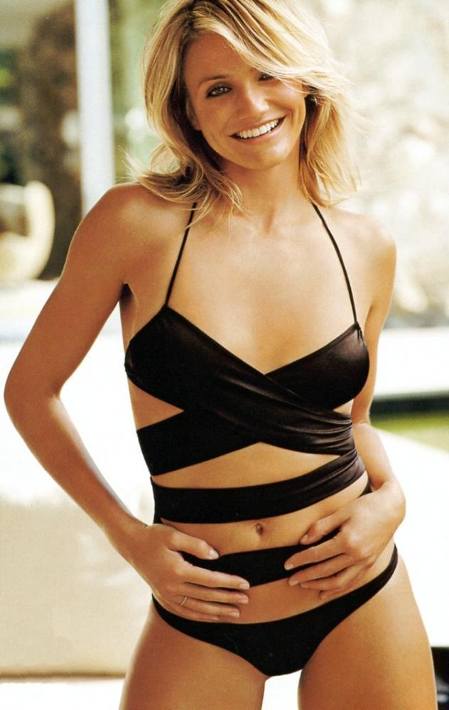 Cameron Diaz Hot Girl in Black Bikini