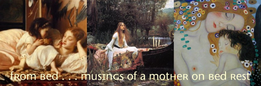 From Bed...Musings of a mother on bedrest