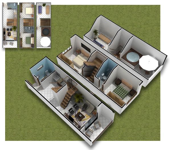 Viejitos piolas planos de monoambientes y microdepartamentos for 2 story house plans 3d