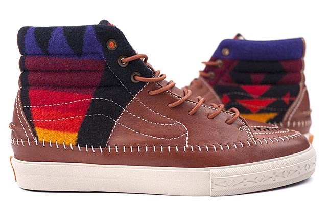 Vans Vault presented the Taka Hayashi x Pendleton collection recently. The  collaboration is the combination of Hayashi s Native American-inspired  style and ... 79cfa95eb