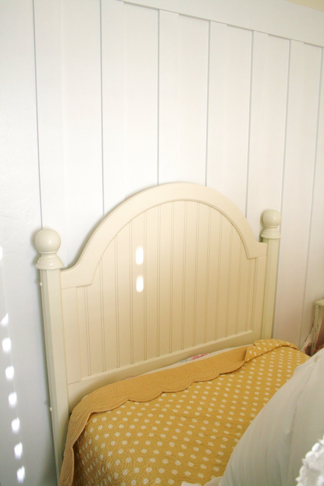 Pretty pink painted headboard for Painting a headboard