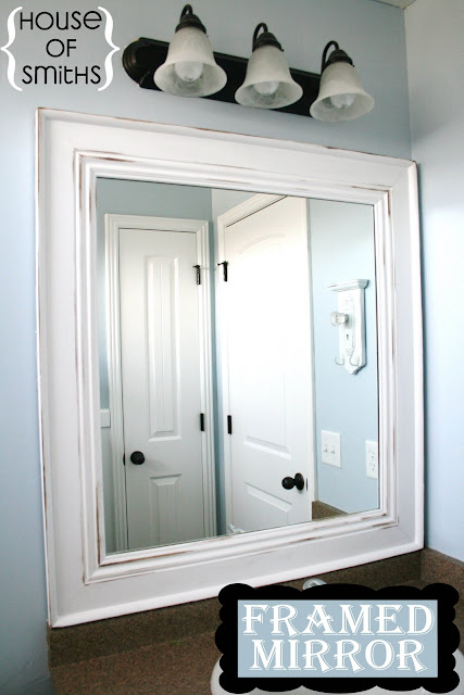 Model DIY Bathroom Framed Mirror  For The Home  Pinterest