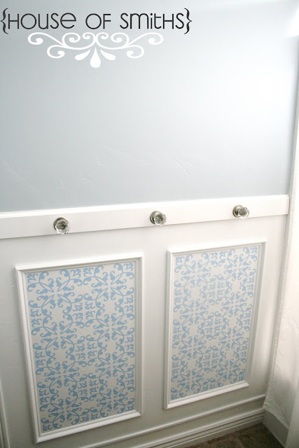 Centsational Girl's picture frame wainscoting
