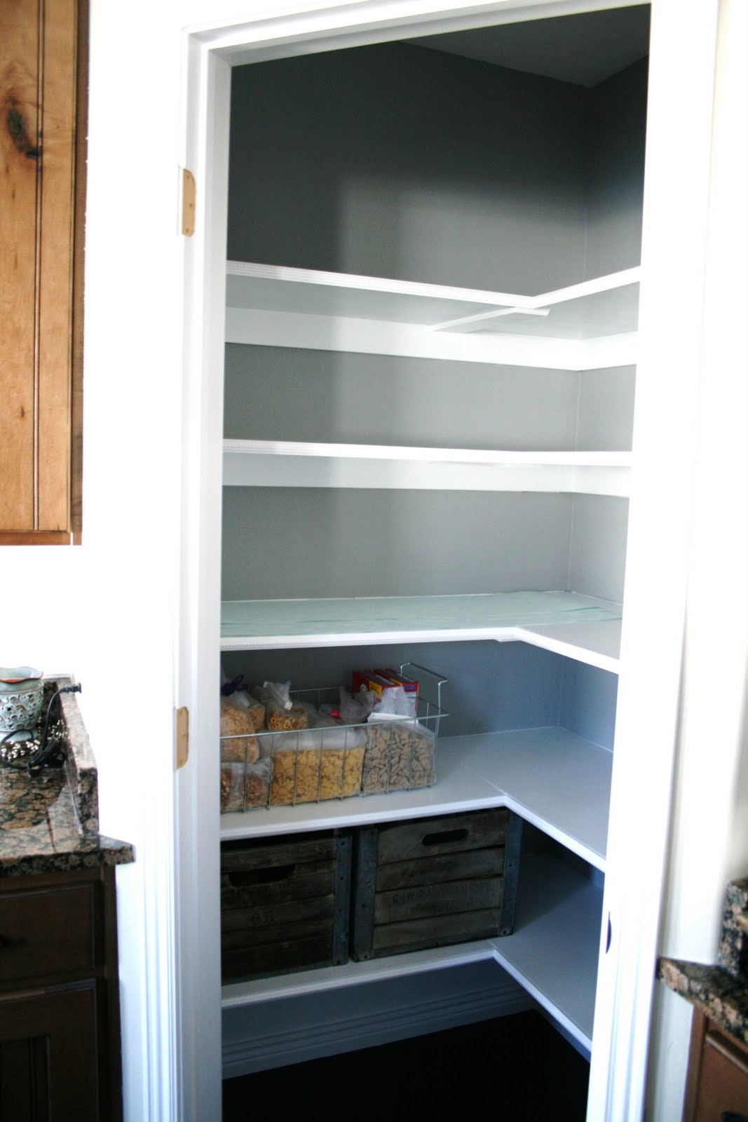 how to organize and spruce up your pantry On what color to paint pantry walls