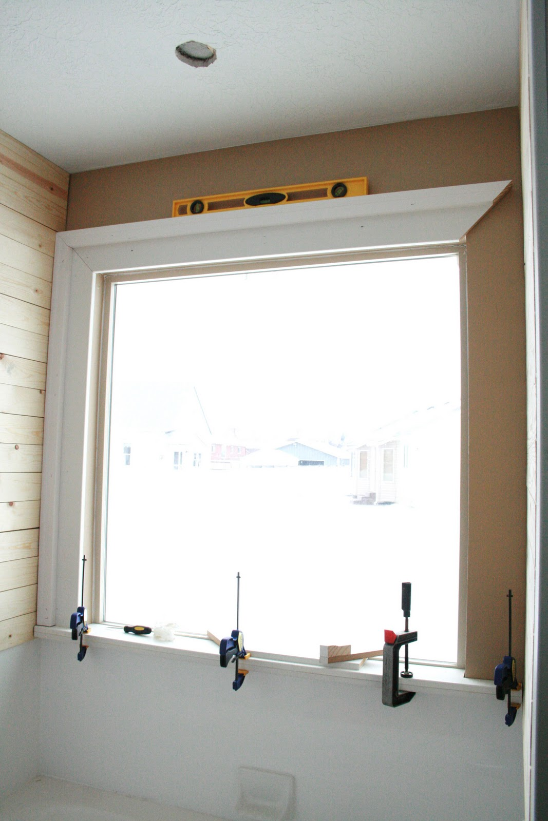 framing a window with molding