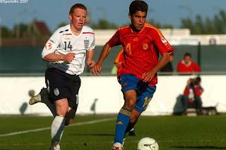 El mediapunta gallego en la final de la Eurocopa Sub-17 de Bélgica