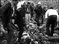 La avalancha de personas se cobró muchas vidas y heridos