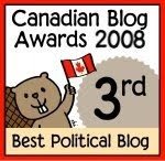3rd place - Best Political Blog in Canada