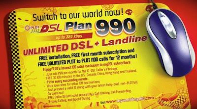 PLDT myDSL Plan 990