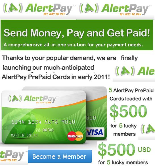 OPEN YOUR  ALERTPAY PAYMENT SYSTEM WITH DEBIT CARD