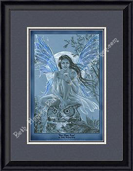 Blue Moon Faery Framed