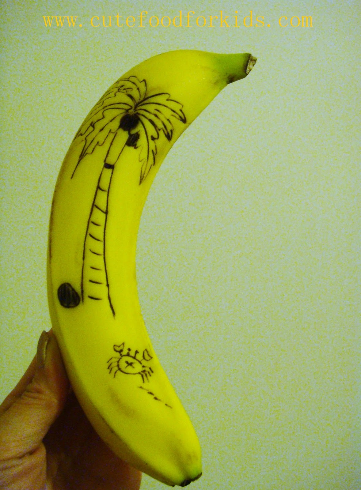 cute food for kids how to draw on banana