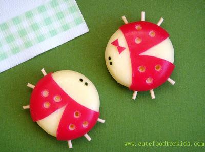 ladybug Babybel cheese
