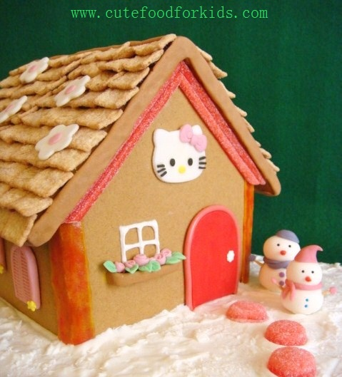 Hello Kitty Houses Real Houses cute food for kids?: gingerbread house- hello kitty's home