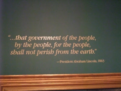 One of President Abraham Lincoln's famous quotes.