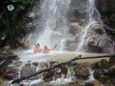 Baño en cascadas.