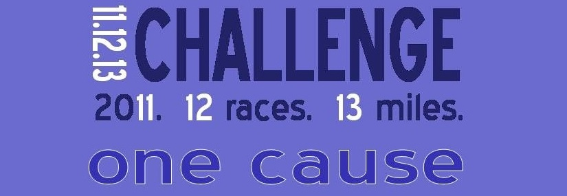11, 12, 13 Challenge: 2011.  12 Races.  13 Miles.