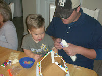 WESTON AND DAD WORKING TOGETHER TO BUILD A GREAT HOUSE