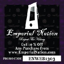 USE PROMO CODE 10% DISCOUNT CLICK TO BUY EN T-SHIRT, OR GO TO WWW.EMPERIALNATION.COM