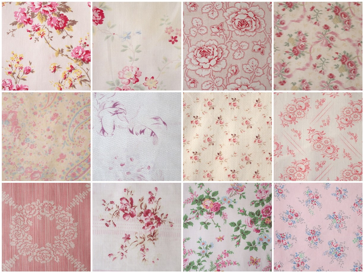 Rag rescue beautiful vintage fabric squares for Vintage fabric