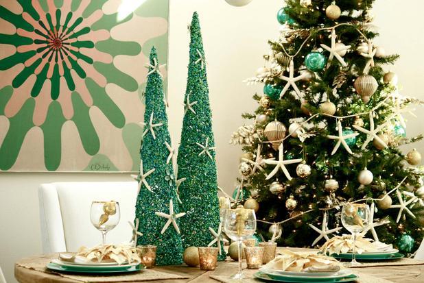 designer decor coastal christmas ideas. Black Bedroom Furniture Sets. Home Design Ideas