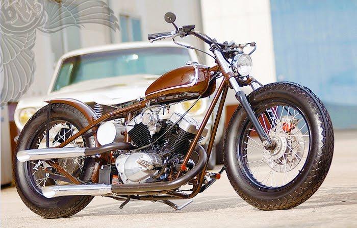 brown xv250 bobber | gravel crew