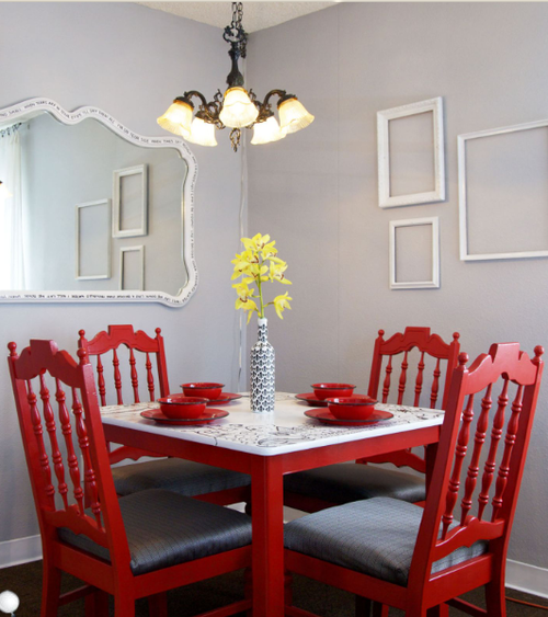Down And Out Chic: Interiors: Red + Neutral