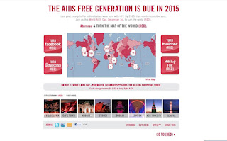 the RED initiative homepage for an aids free generation in 2015