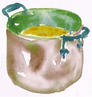 lentil+pot+copy Lentil Soup   Soup with a taste from the East