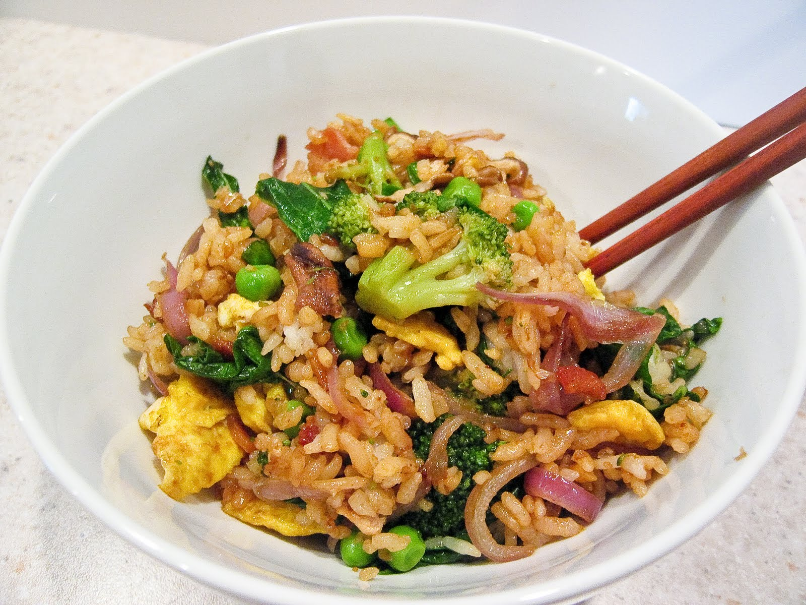 love bacon and egg fried rice recipe yummly bacon and egg fried rice ...