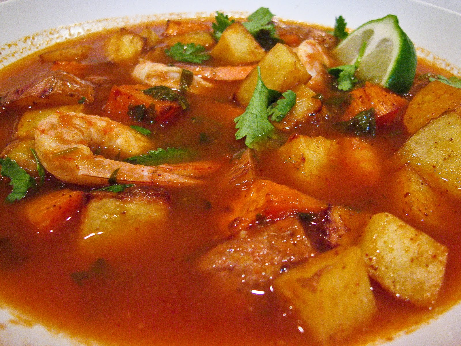 Mexican spicy roasted shrimp amp potatoes stew the spiced life