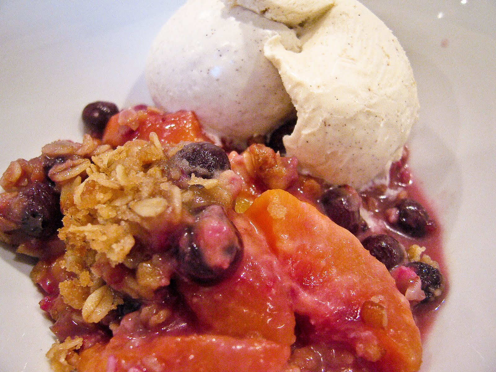 Blueberry Peach Crisp - The Spiced Life