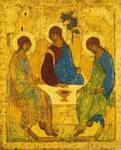 "The Hospitality of Abraham and Sarah (called ""the holy trinity icon"")"