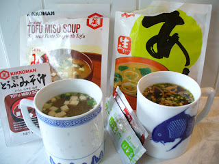 Japanese miso soup for breakfast
