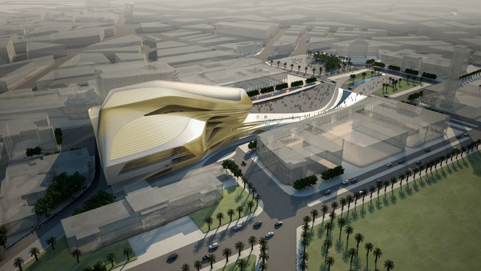 Zaha hadid will conduct the grand theatre in rabat for Architecture marocaine