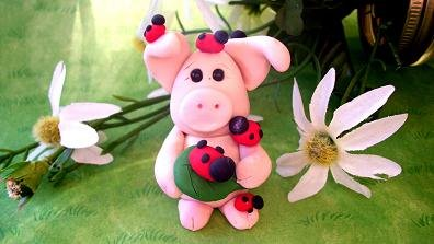 Ladybug Piggy       Collectible