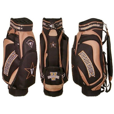 Vanderbilt University Commodores gold and black Vandy golf bag.