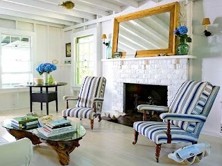open airy nautical living room home decor