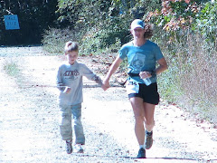 Finishing Dupont Forest Marathon with my son 10/2007