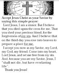 صلاة من أجل قبول الرب يسوع