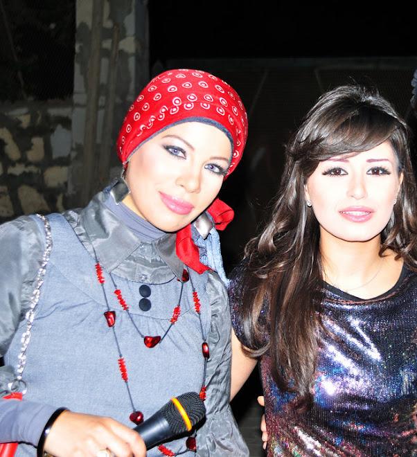 مع الفنانة منة فضالى عام 2010
